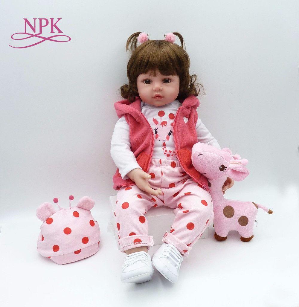 bebe reborn doll 48cm New Handmade Silicone reborn baby adorable Lifelike toddler Bonecas girl kid menina de silicone lol doll