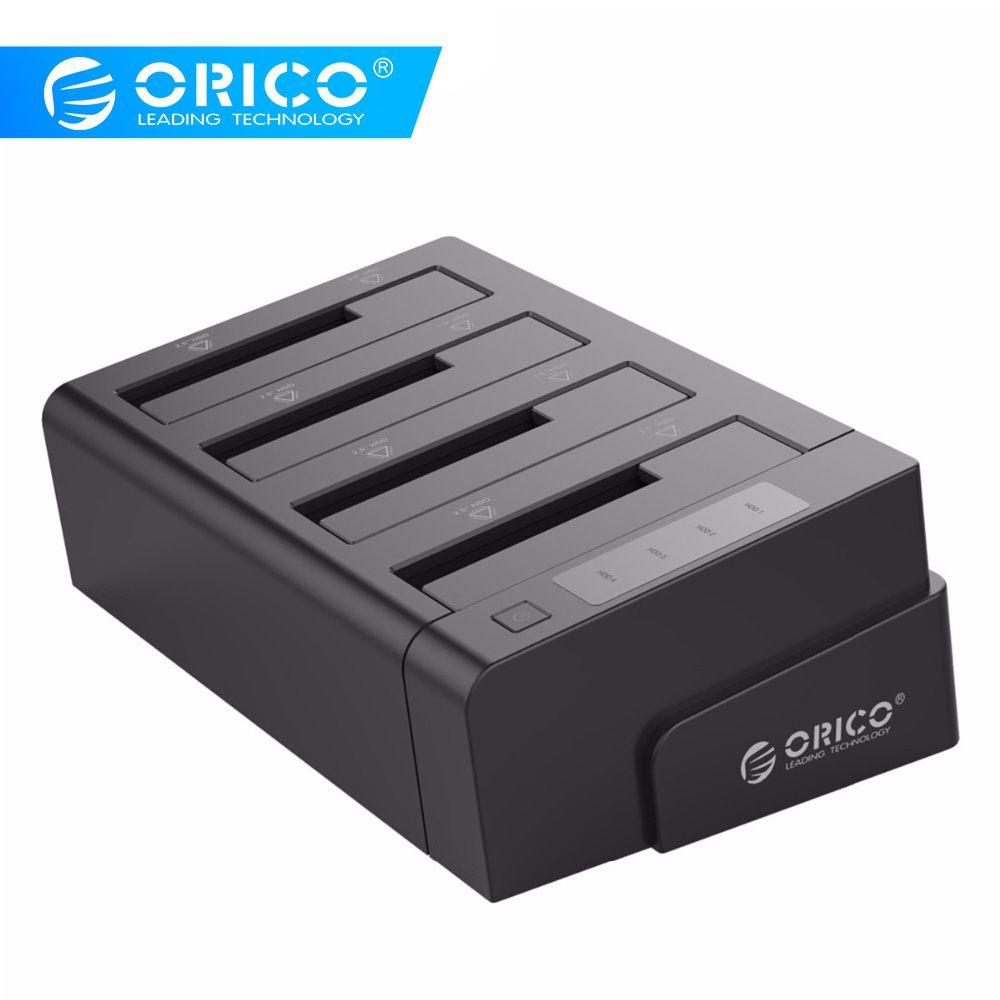 ORICO 6648US3-C USB 3.0 2.5 & 3.5 pouces SATA disque dur externe Dock 4 baies Off-line Clone Hdd Station d'accueil-noir