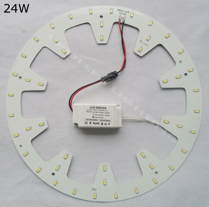 110 V 220 V 230 V DIY KIT 15 W 18 W 24 W surface monté led plafonnier ronde animée PCB LED tube circulaire led vers le bas lumière luminaires