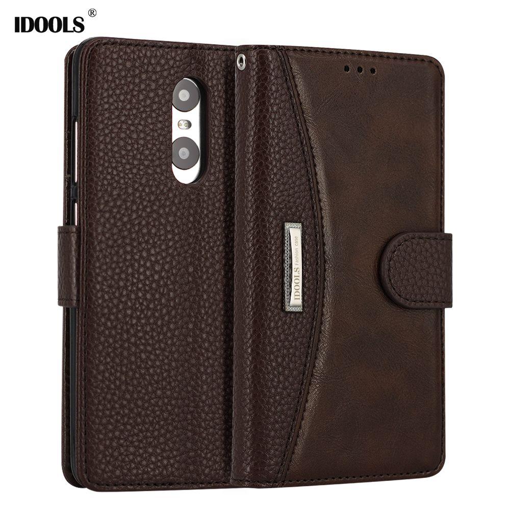 IDOOLS Pour Xiaomi Redmi Note 4 6A Cas PU cuir Flip Couverture Wallet Sac de Téléphone Cas pour Xiaomi Redmi Note 4X3 3 s 4 Pro 6 5 Plus