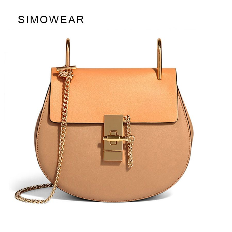 2016 Hot Sale Popular Fashion Brand Design Women Genuine Leather Cloe Bag High Quality Real Cowskin Shoulder Bag Small Chain Bag
