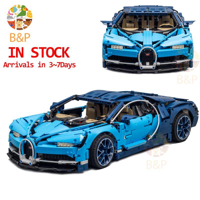 DHL Legoing 4031pcs Technic 42083 The Bugatti Chiron Racing Car Sets Model Building Block Brick Toys For Children Birthday Gift