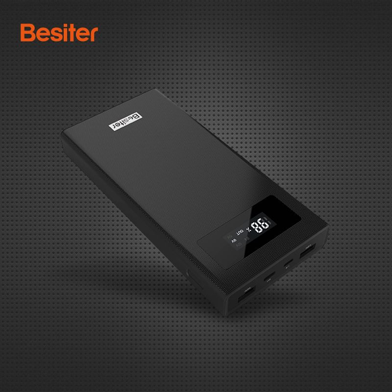 Besiter Power Bank 20000mah Support Quick Charge For Phones External Battery Packs with LCD Screen for xiaomi redmi 4x Samsung
