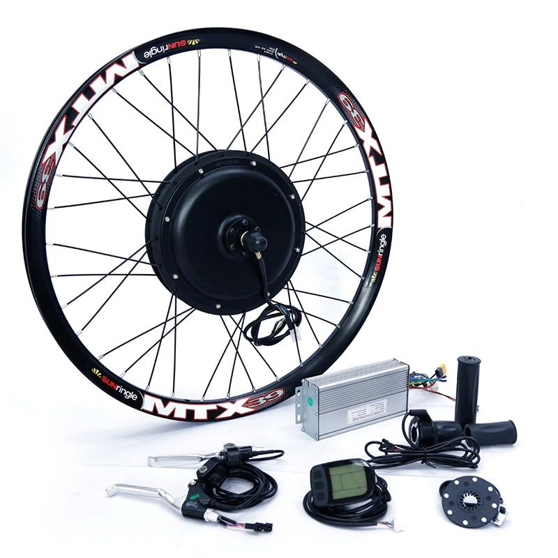 Front or rear <font><b>motor</b></font> 65km/h 48v 1500w Electric bike conversion kit for 20 24 26 28 700c