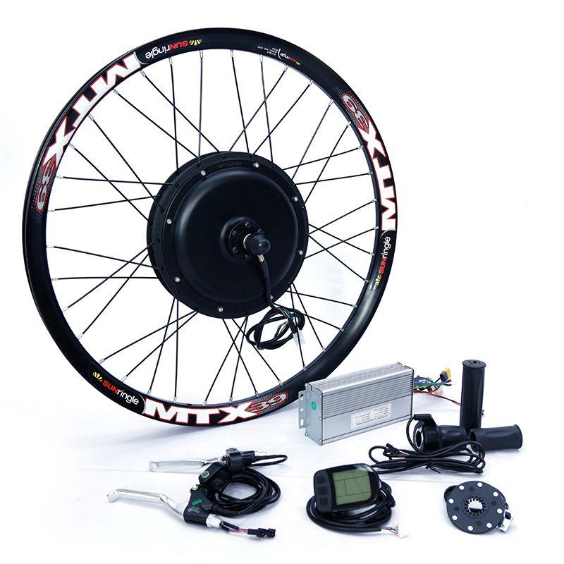Moteur avant ou arrière 65 km/h 48 v 1500 w kit de conversion de vélo électrique pour 20