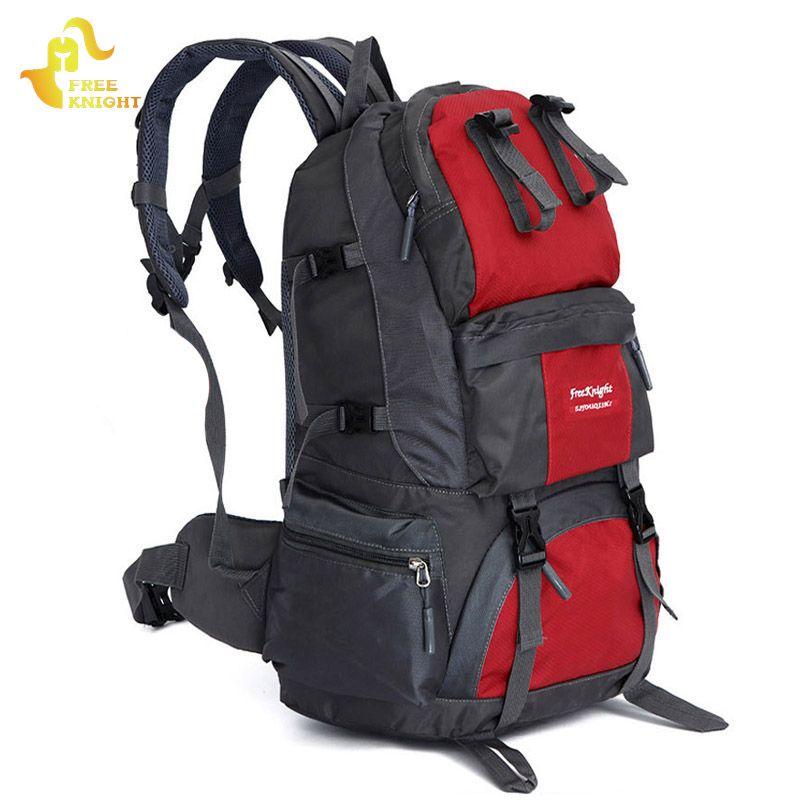Chevalier gratuit 50 L sac de sport grande capacité randonnée en plein air sacs à dos Camping alpinisme chasse sacs voyage sac à dos femmes hommes
