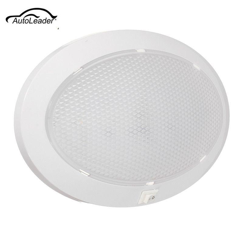 1Pcs 4.2W LED Dome Light Car Interior Light Circular Crystal Roof Ceiling Light for Caravan/RV/Car