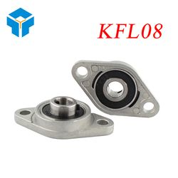 KFL08 FL08 Flange Bearing With Pillow Block 8mm Caliber Zinc Alloy Pillow Block Bearing for CNC for 3D printer Lead screw