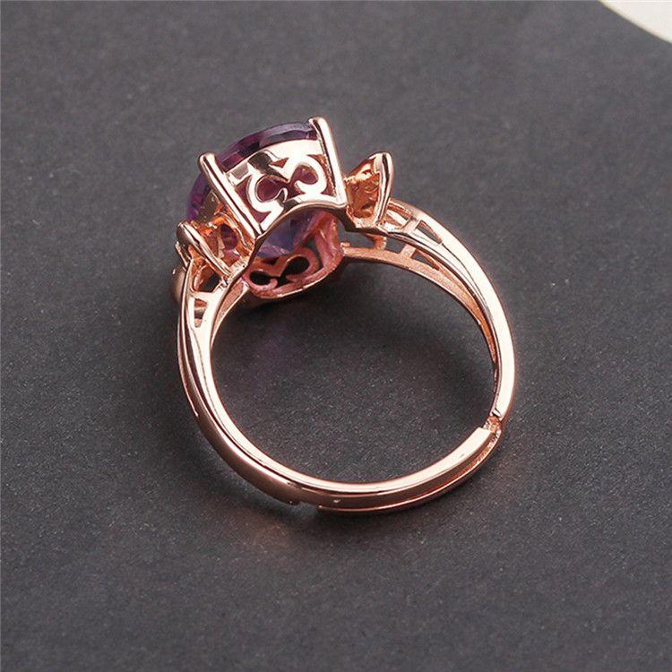 Kristall Ring 925 Silber Natürliche Amethyst Ring Weibliche Öffnung