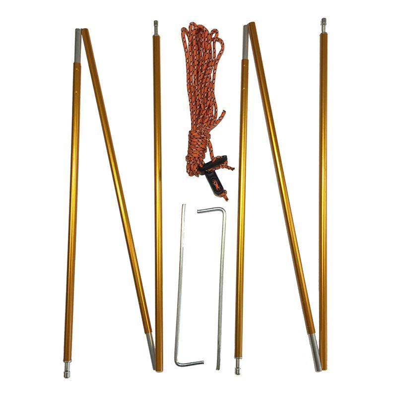 2 pièces/paire en Aluminium tente pôle accessoires auvent tente poteaux Foyer jambe de force pour Camping tentes 1M or
