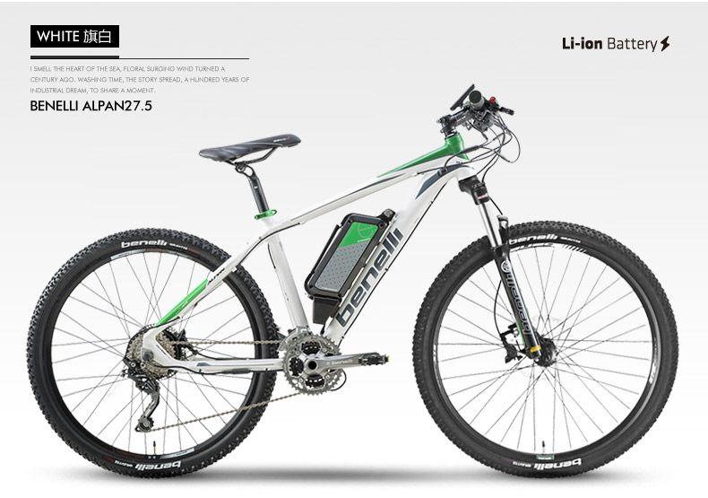 BENELLI 27,5 zoll elektrische mountainbike smart lithium-batterie MTB ebike Unterstützen Ebike power PAS Elektrische fahrrad