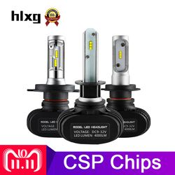 hlxg 2Pcs CSP H8 H11 Fog Lamp H4 Led H7 H1 H3 Car Headlight Bulbs For Auto S1 N1 H27 HB3 HB4 Led Automotive 12V 50W 8000LM 6000K