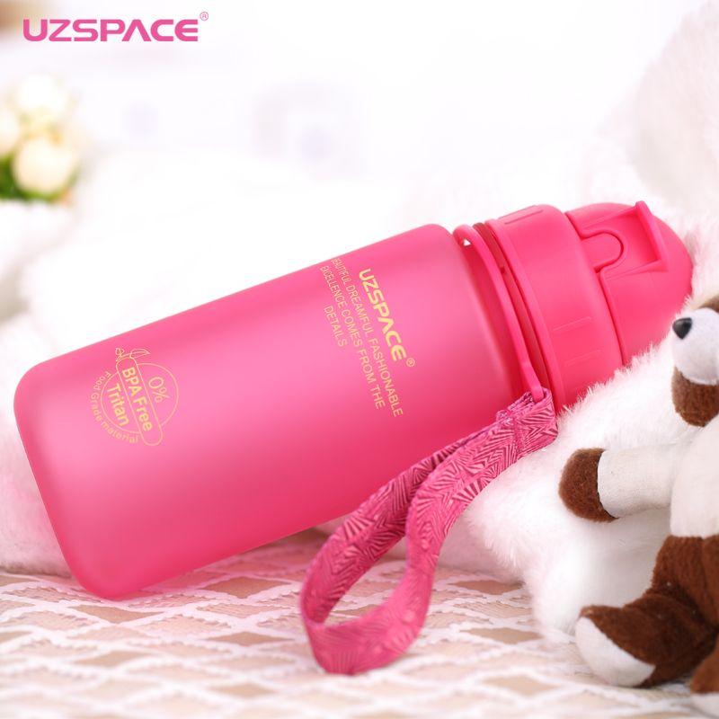 Bouteille d'eau d'uzspace 400 ml avec paille enfants sport gommage Portable bouteille de boisson en plastique étanche écologique Tritan (sans BPA)