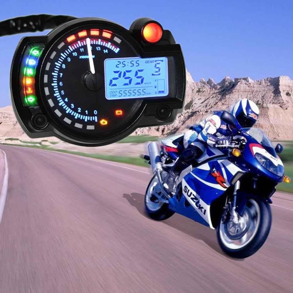 15000rpm Modern KOSO RX2N Similar LCD Digital Motorcycle Odometer Speedometer Adjustable MAX 199KM/H Freeshipping Car-Styling
