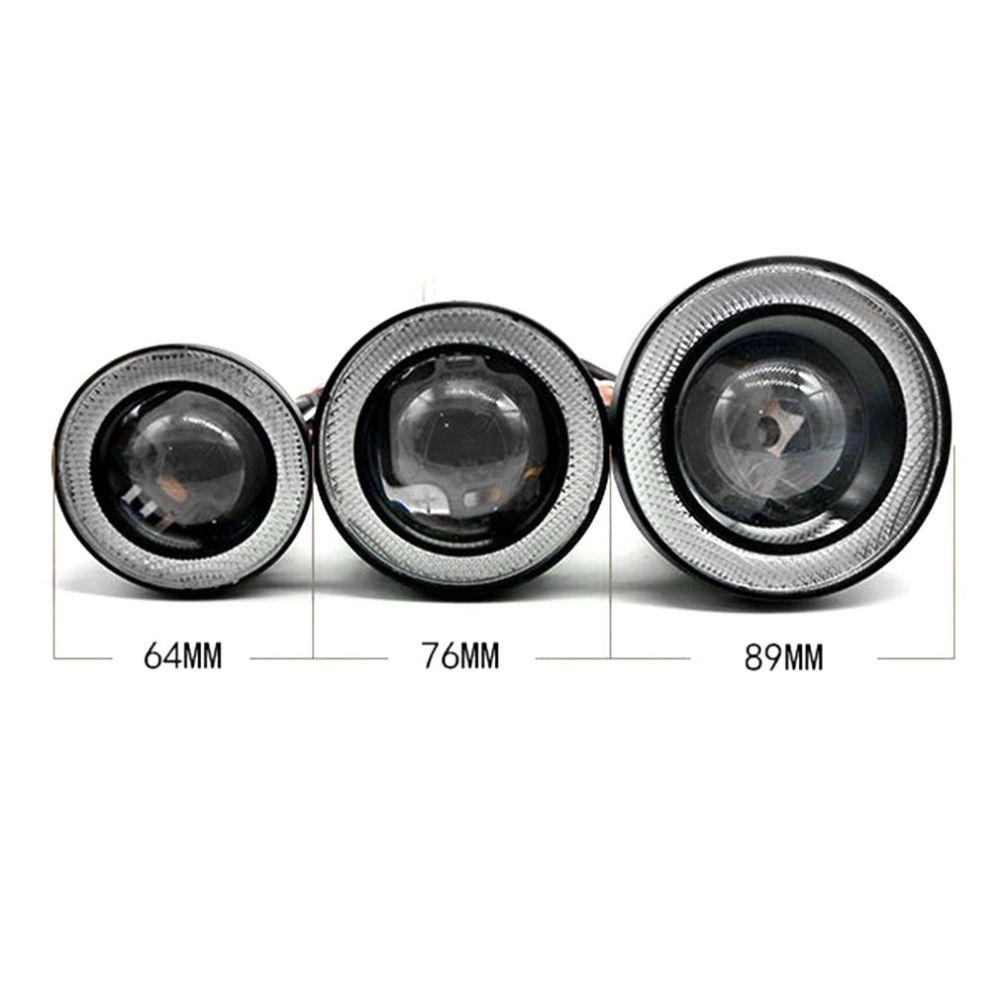 1 Pair 64mm/76mm/89mm 30W LED COB Angel Eyes Daytime Running Light Car Vehicle Universal Fog Lights for BMW for Benz