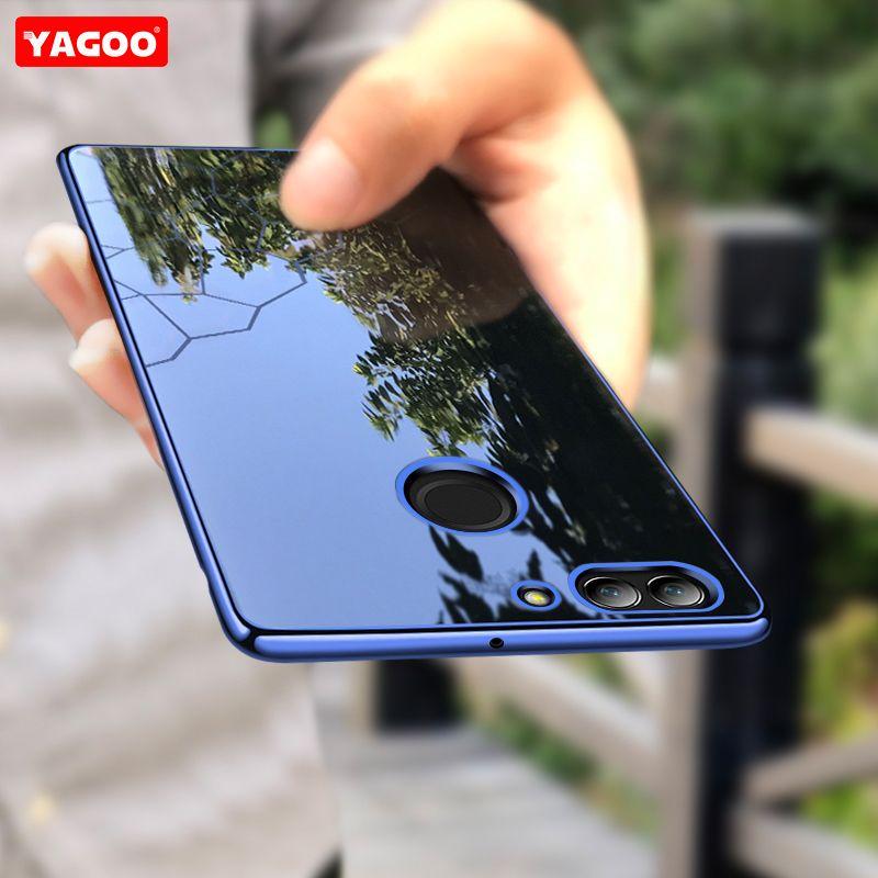 Para Huawei nova nova 2 más caso de la contraportada para huawei 2 caja de lujo del silicón TPU caso Yagoo nova2 cáscara brillante rojo azul púrpura