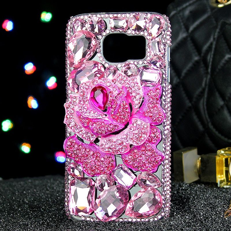 Luxury Diamond blue pink enchantress water-drop soft case for Samsung galaxy s5 s6 s7 s8 edge plus note 3 4 5 Girl Lady Woman