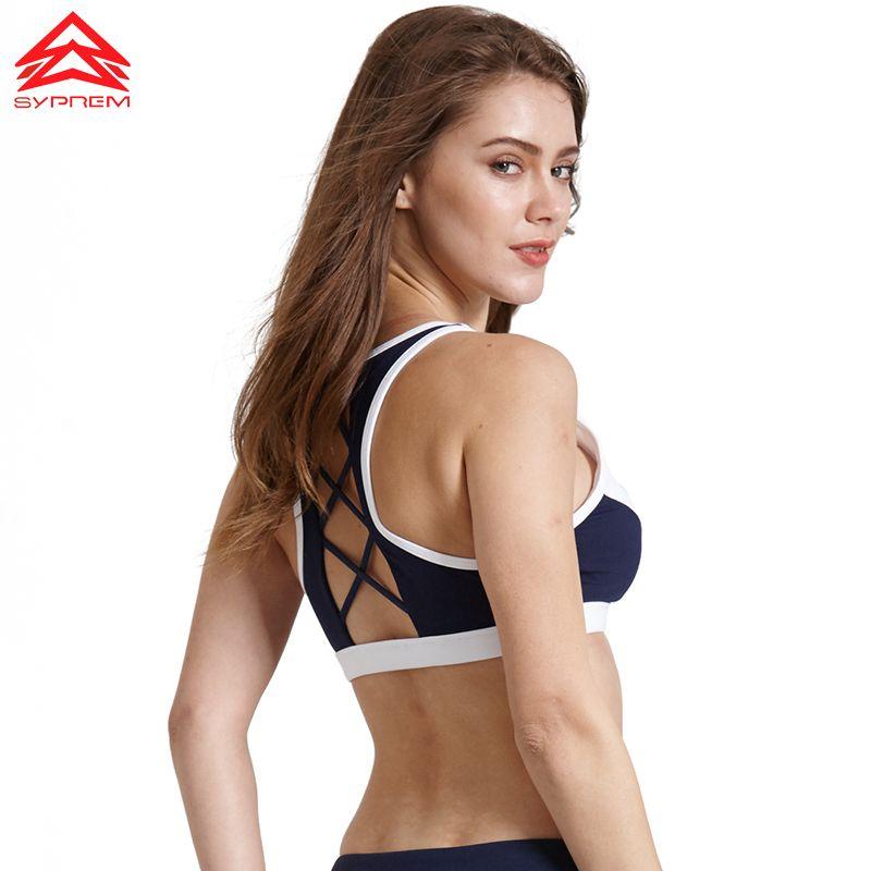 SYPREM sports bra 2017 Fitness wire free Hollow Sports bra top Shockproof Shapes Quick Run Body Run Yoga bra underwear,1FT0005
