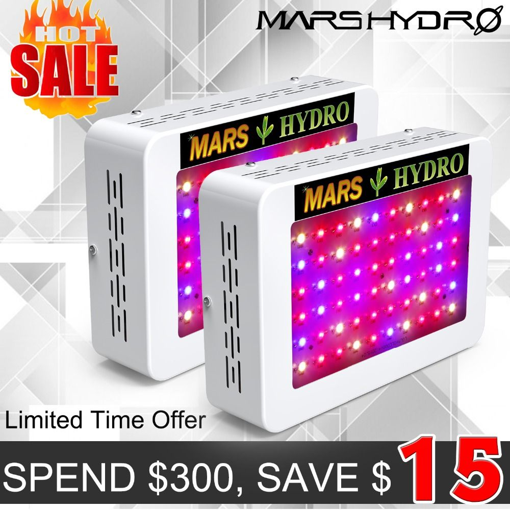 2pcs MarsHydro 300/600 full spectrum LED Grow Lights Hydroponics Panel for Indoor Garden