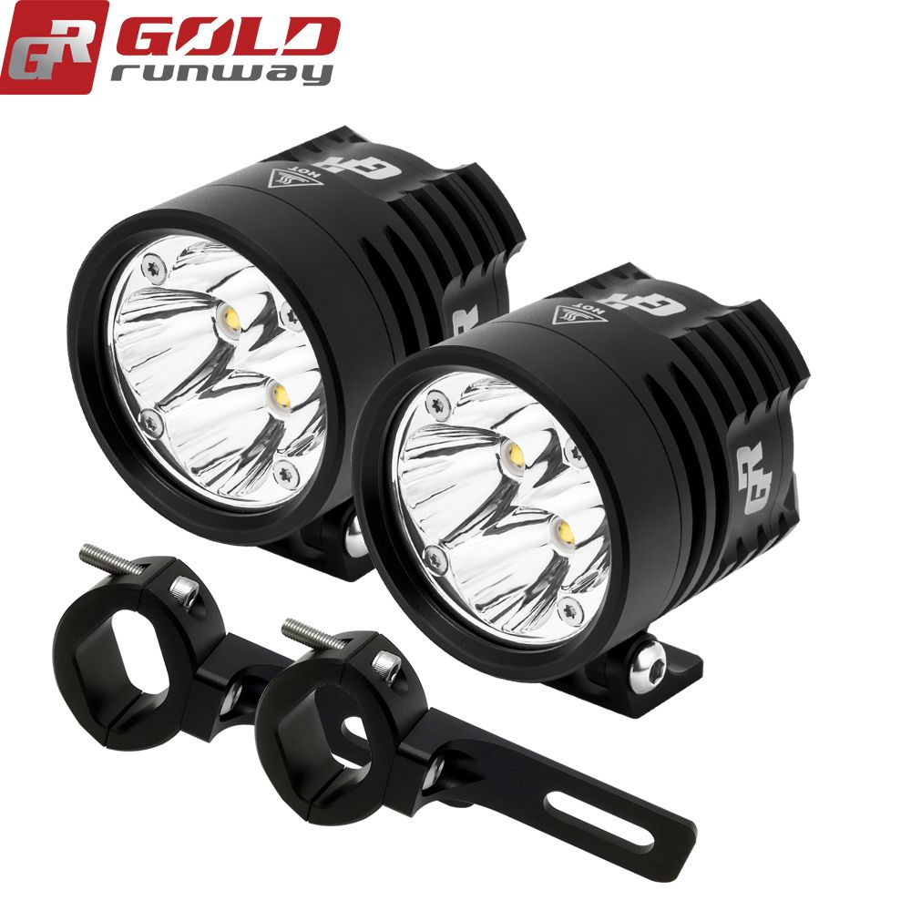 2 Pcs GOLDRUNWAY GR EXP4 2.36 INCH Motorcycle Led Fog Spot Lamp 24W XP-G3 LED Auxiliary Fog Passing Light Motorcycle Led Lights