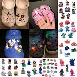 4-8PCS Avengers Finding Nemo PVC Shoe Charms Shoe Buckles Accessories Fit Bands Bracelets Croc JIBZ,Kids Party Gifts