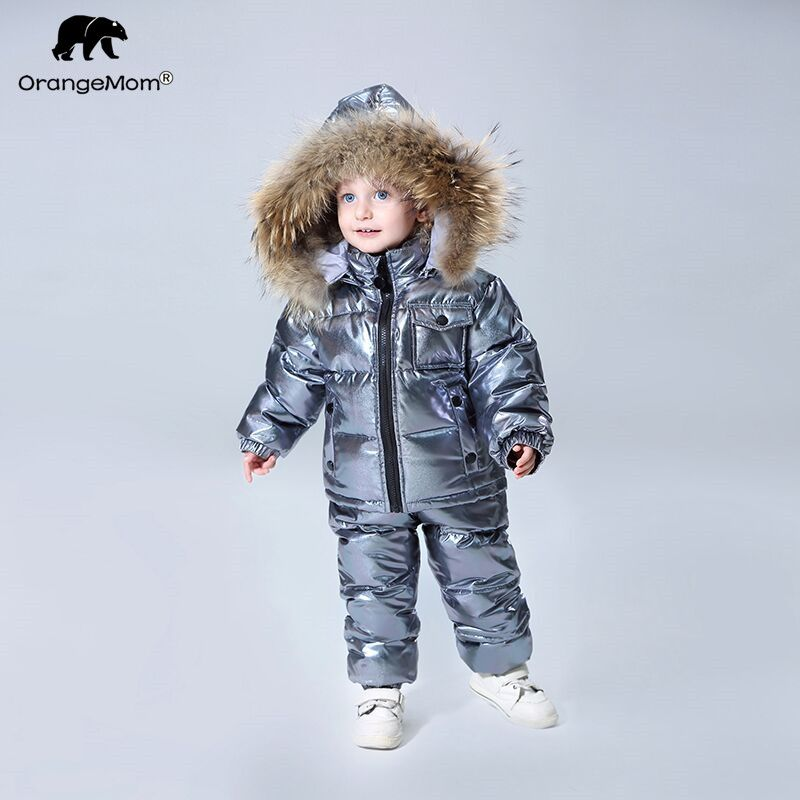 2018 Orangemom official store winter Children's Clothing sets down boys clothing , kids outerwear & coats for Girls jackets snow