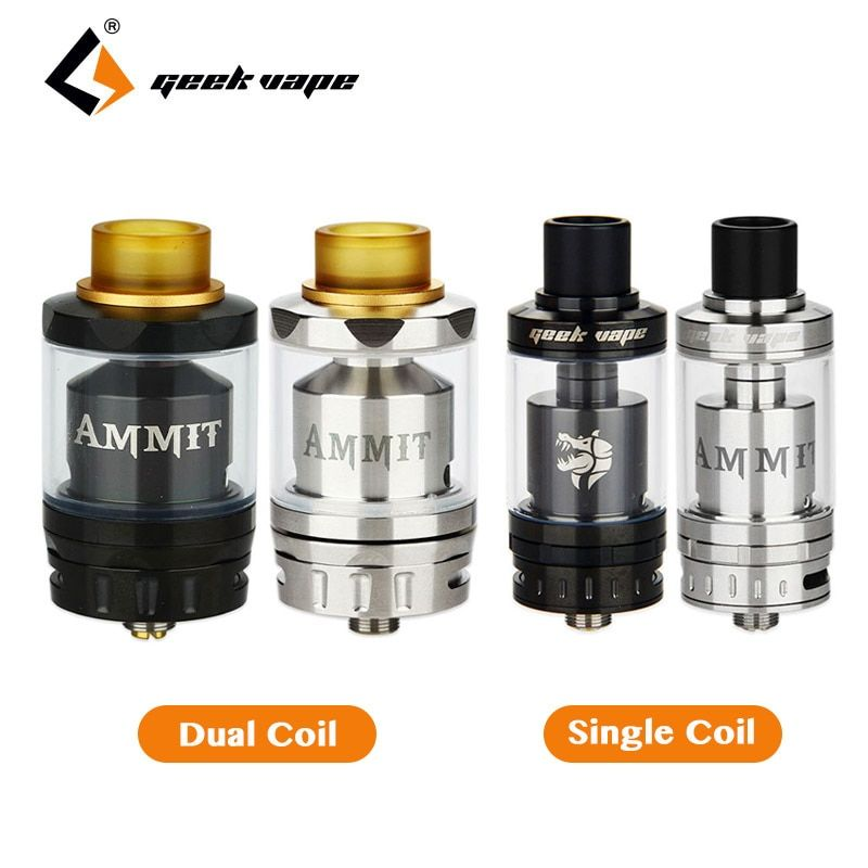 Original Geekvape Ammit RTA Dual Coil/Single Coil Ammit RDTA Tank Top Refill System Clearomizer RDTA Style Electronic Cig Tank