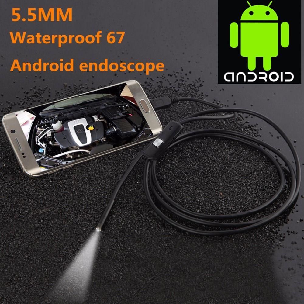Mini USB endoscopio 5.5mm 1/1. 5/2/3.5/5 M Focus Objetivos para cámaras impermeable para el endoscopio androide mini USB endoscopio cámara de inspección