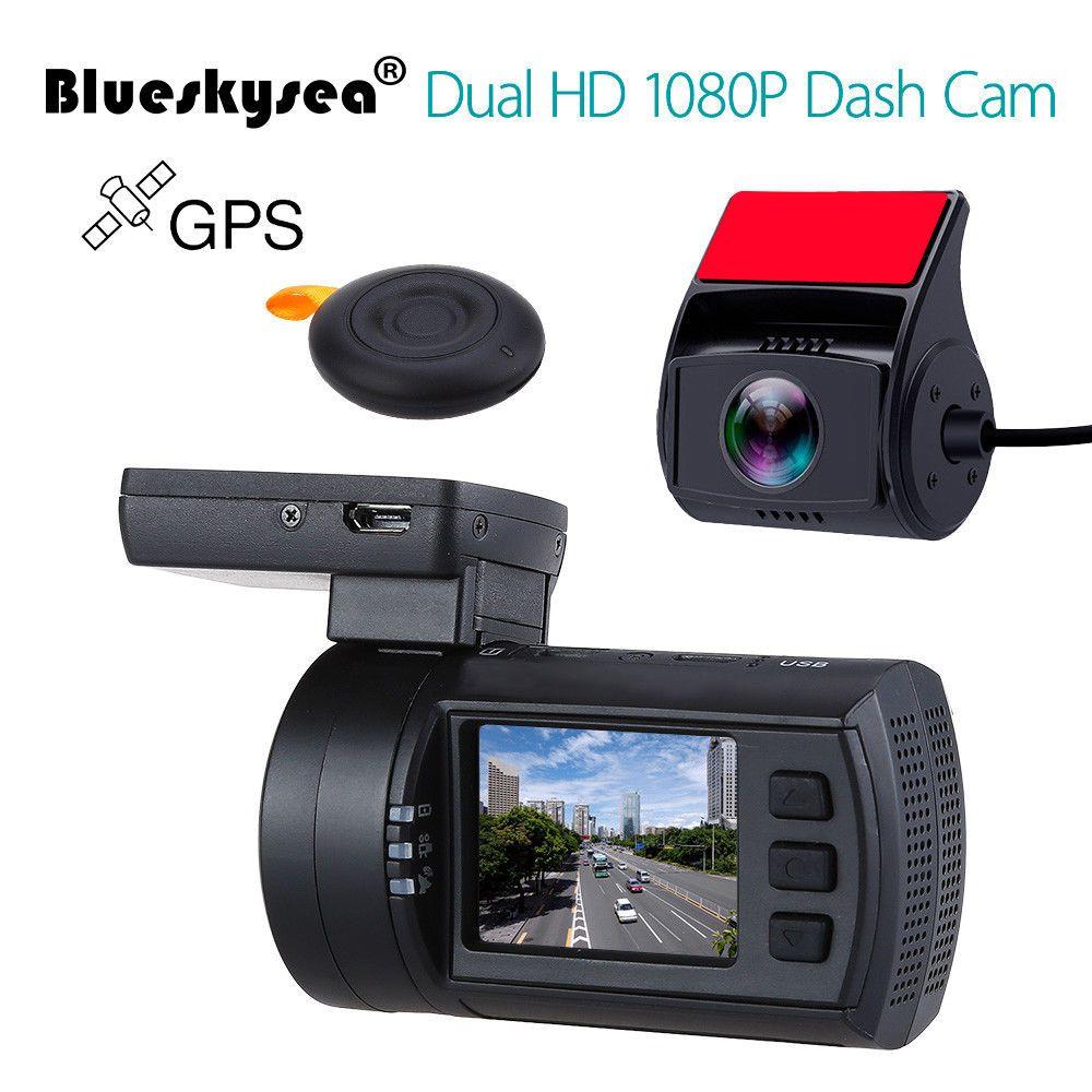 Blueskysea Mini 0906 Dash Kamera 1080 P Dual Auto Dash Cam GPS DVR Fahrzeug Voiture Dashboard Recorder Verbesserte Mini 0806 dashcam