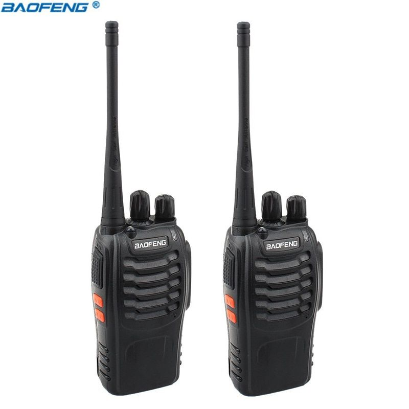 2Pcs Baofeng BF-888S Walkie Talkie Portable Radio BF888s 16CH UHF 400-470MHz BF 888S Comunicador Transmitter Transceiver baofeng