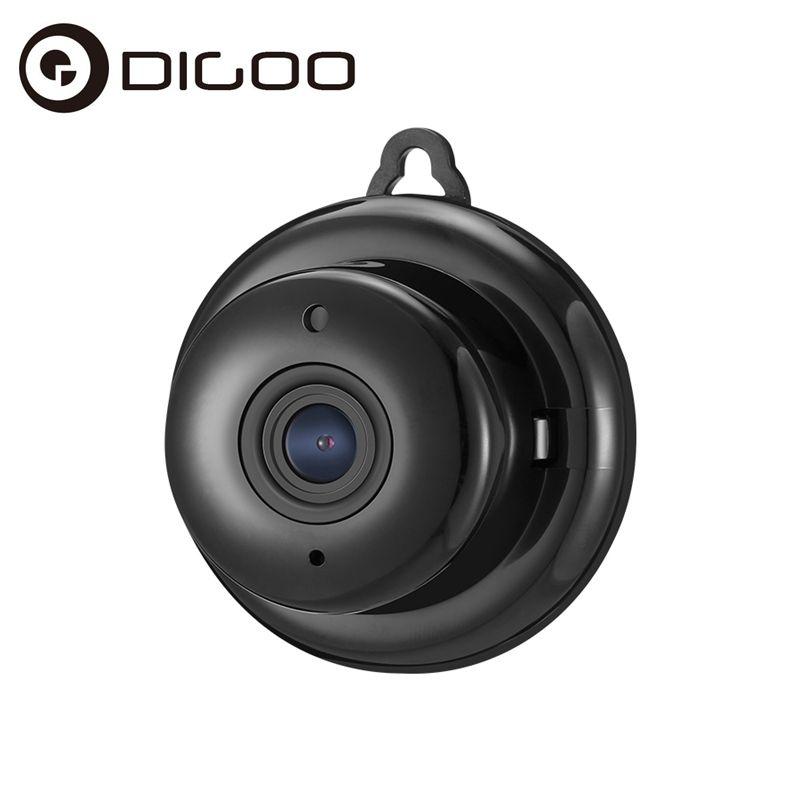 Digoo DG-M1Q <font><b>960P</b></font> 2.8mm Wireless Mini WIFI Night Vision Smart Home Security IP Camera Support Onvif Monitor Black Grey