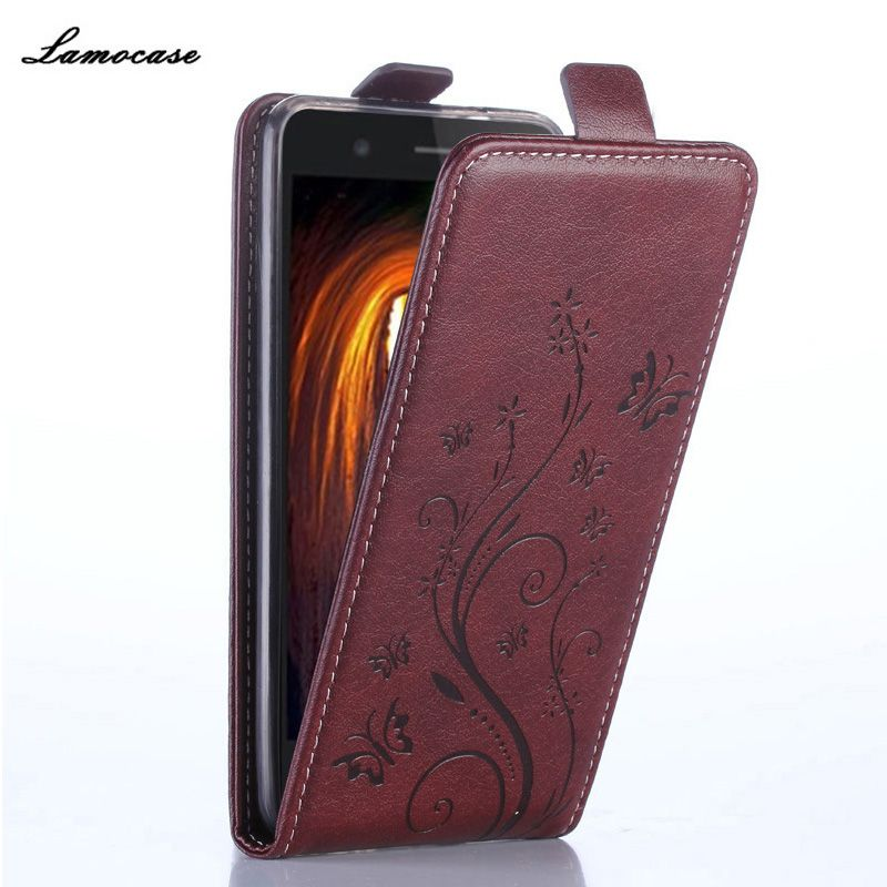 Luxury Leather Case for Sony E5 Case for Sony Xperia E5 F3311 F3313 Flip Cover Butterfly Painting Wallet Card Slot Bag