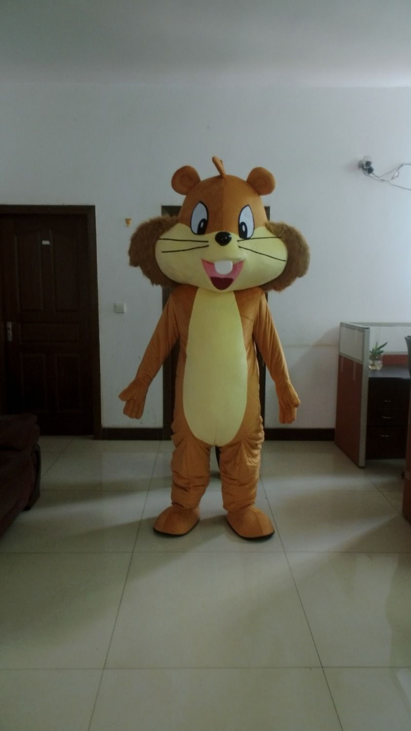 2017 Adult Cartoon Lovely Squirrel Mascot Costume Fancy Dress Free Shipping