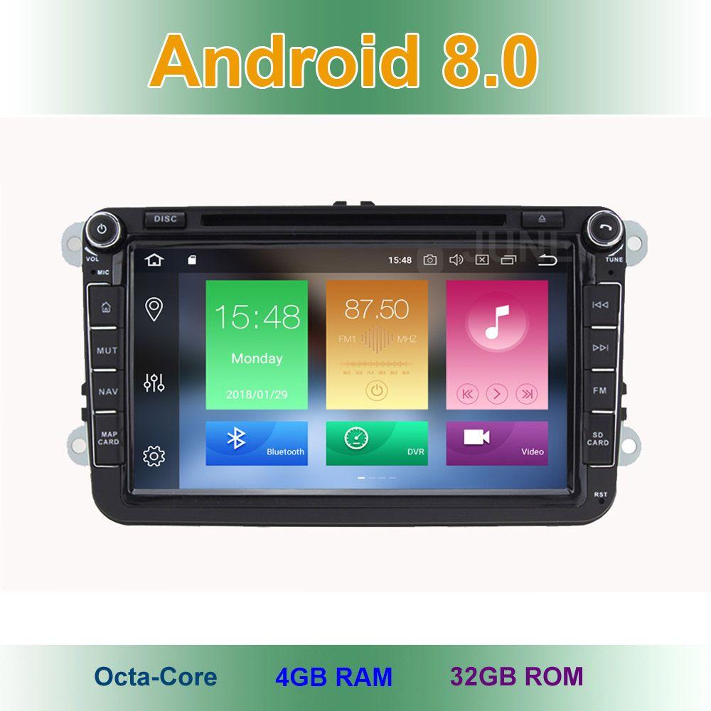 4 GB RAM Android 8.0 Car DVD Radio Stereo GPS for VW Passat CC Golf 5 6 T5 EOS B5 B6 B7 Jetta Touran Tiguan Multivan