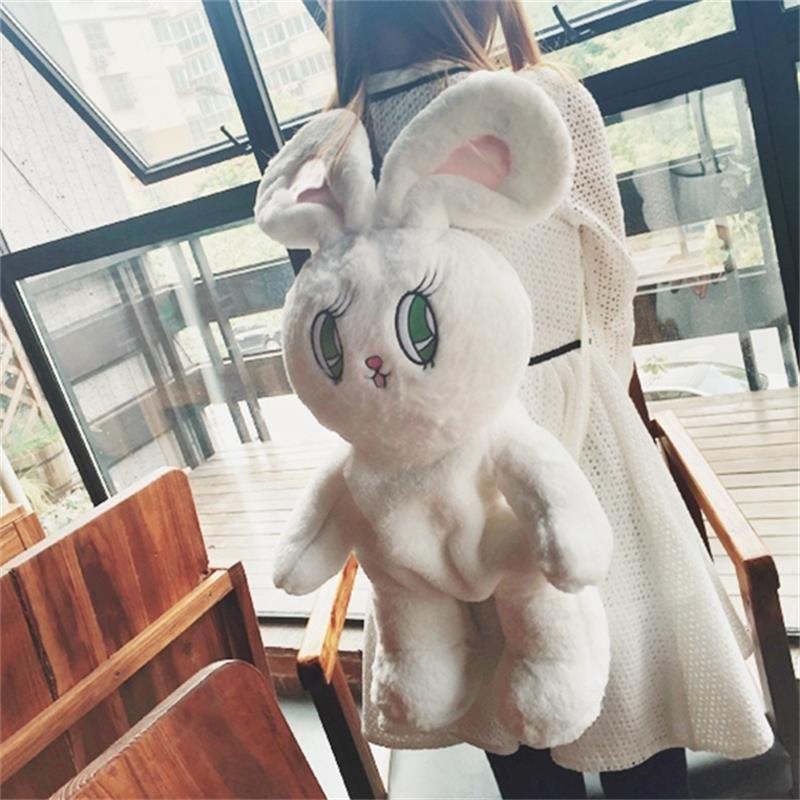 Wego Super-doux velours grand sac De Lapin trois-couleur Classique animal de bande dessinée sac à dos 75 cm