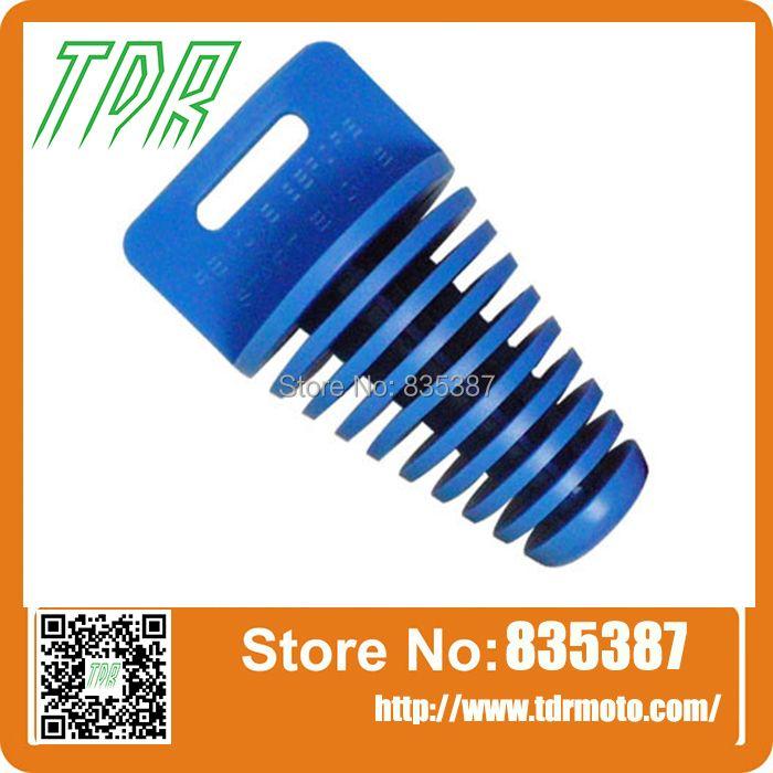 1pcs Big Blue ZXTD Exhaust Pipe Muffler Silencer 4-Stroke Plug for Motorbike AB062
