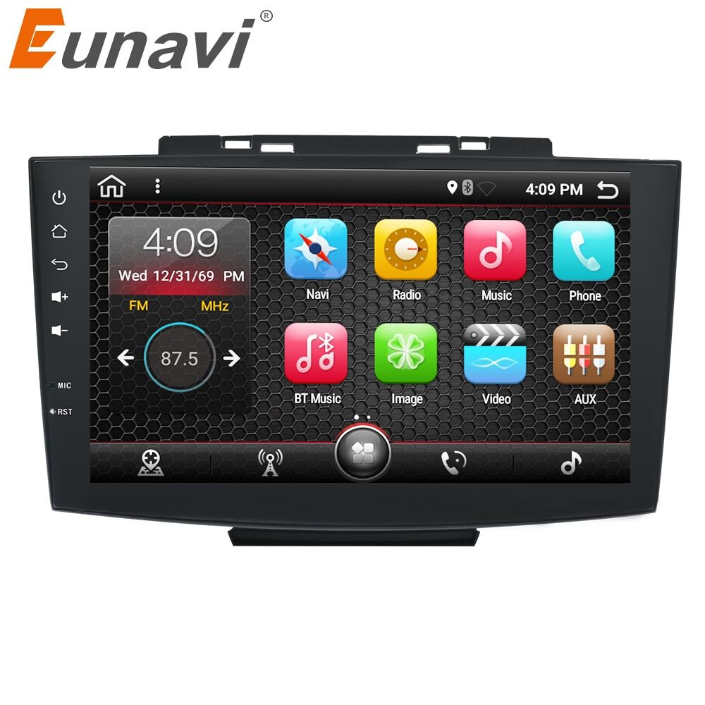 Eunavi 9'' Quad core Double 2 Din Android 7.1 Multimedia Car PC Radio Stereo for Haval H5 GPS Navigation 1024*600 HD 2G RAM RDS