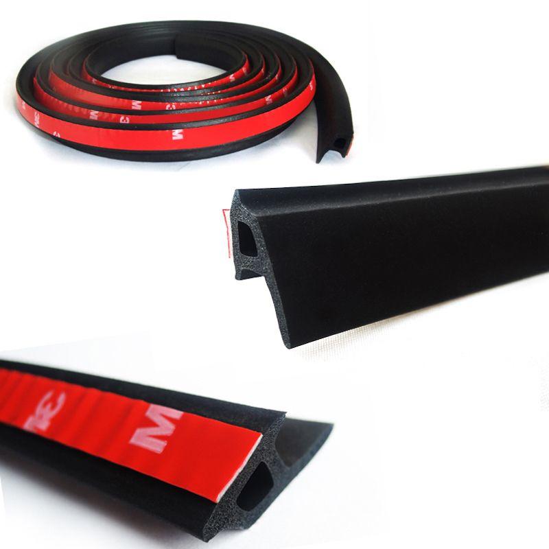 Voiture porte coupe-froid en caoutchouc porte joint bande automobile étanchéité coupe-froid en caoutchouc naturel 21.5mm x 14.5mm 2 m noir