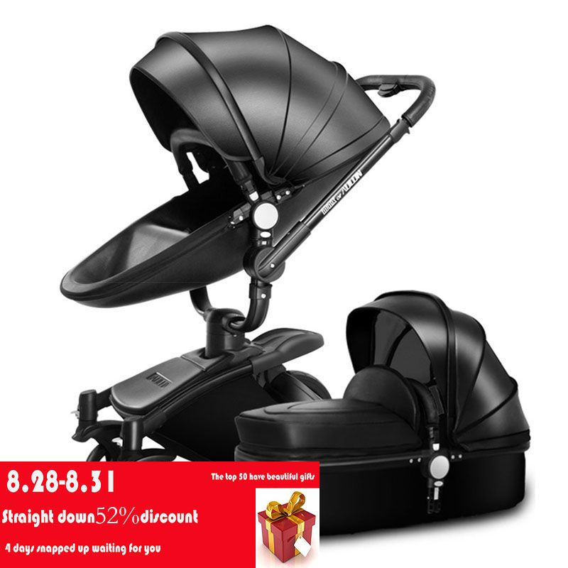AULON Oyun Long baby stroller two-way high-profile shock absorber baby car can sit down cart baby trolley