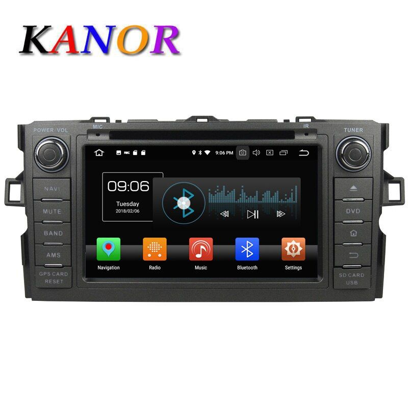 KANOR 4+32G Octa Core Android 8.0 2din car radio For Toyota Auris With GPS Navigation DVD Bluetooth SWC Audio Car Multimedia