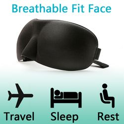 3D плотные тени для век латексная маска Спящая шелковая повязка на глаз мягкая губка Накладка для путешествий самолет Air Blindfold маска для сна А...