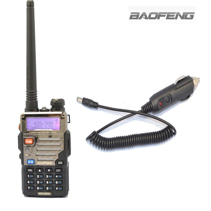 BAOFENG UV-5RE Talkie Walkie VHF/UHF Dual Band Two Way Radio Station + Chargeur De Voiture Câble Portable Radios Ensembles pour Les Camionneurs