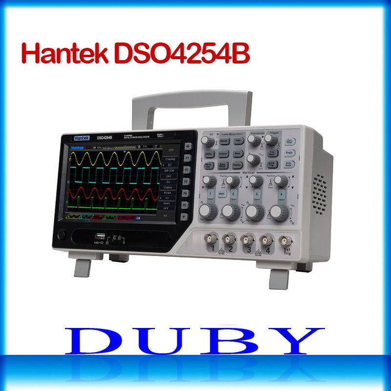 Hantek DSO4254B 64K Digital Storage Oscilloscope 250MHz 4Channels 1GSa/s Real Time sample rate USB host and device connectivity