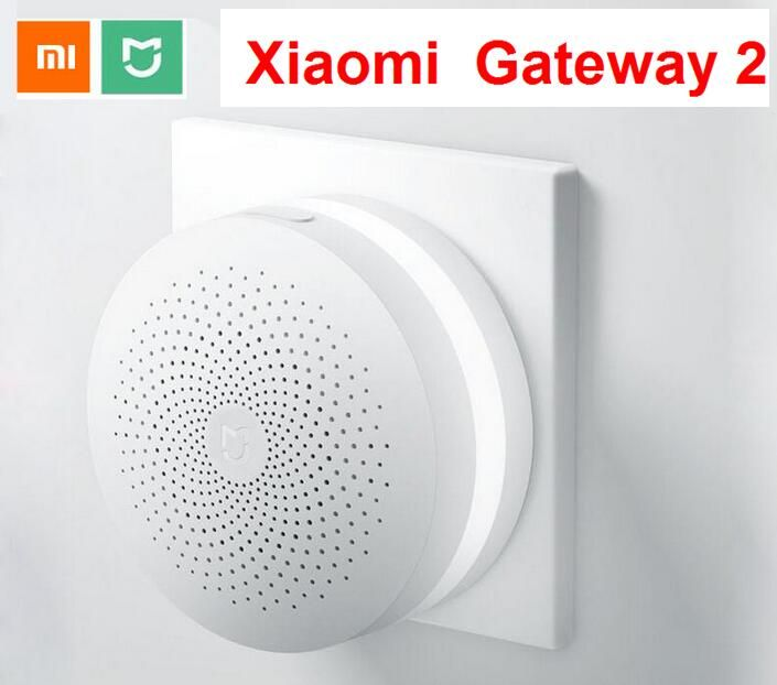Original Xiaomi Mijia update Smart Home Multifunctional Gateway2 Alarm System Intelligent Online Radio Night Light Bell Dropship
