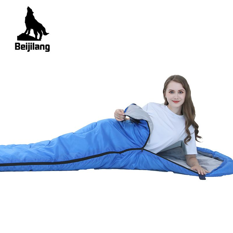 Ultralight Waterproof Keep Warm Splicing Double Sleeping Bag Couples Sleeping Bed For Outdoor Camping 220cm*75cm T88
