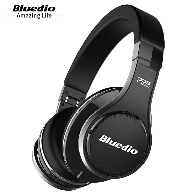 Bluedio U (UFO) haut de Gamme Bluetooth casque Breveté 8 Pilotes/3D Son/En alliage D'aluminium/HiFi Over-Ear sans fil casque