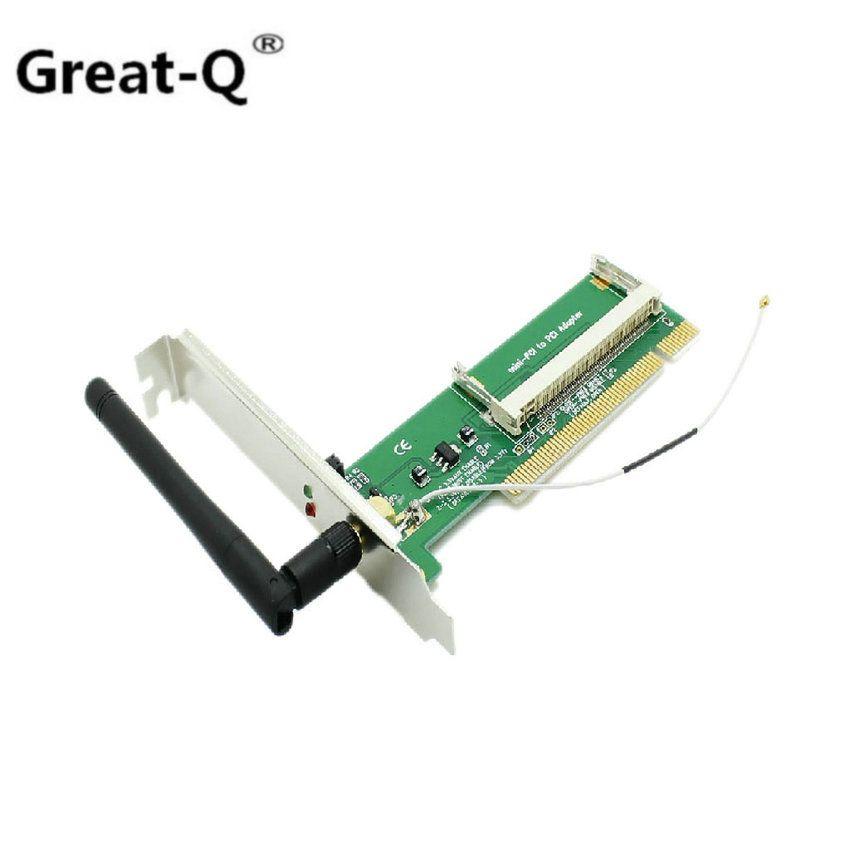 Grand-Q Mini PCI Wifi wi-fi Sans Fil a/b/g Lan Card Standard PCI adaptateur antena + 1 antenne wi fi adaptador gros