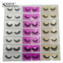 SHIDISHANGPIN 1 box mink eyelashes natural long 3d mink lashes hand made false eyelashes full strip lashes makeup false eyelash