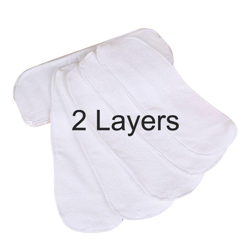 10 pièces Tissu Nouveau-Né Bébé 2 Couches Jetables Couches Pour Enfants Nano Microfibre Réutilisables Couches Lavables Inserts V20
