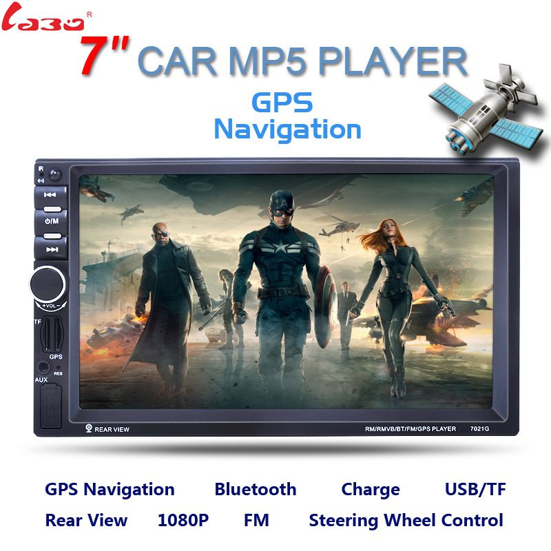 7 zoll 2 Din HD Auto Radio Mp5 Mit Digital Touch Screen Bluetooth USB/TF/FM DVR/Aux-eingang Unterstützung Freisprecheinrichtung Auto Ladung GPS